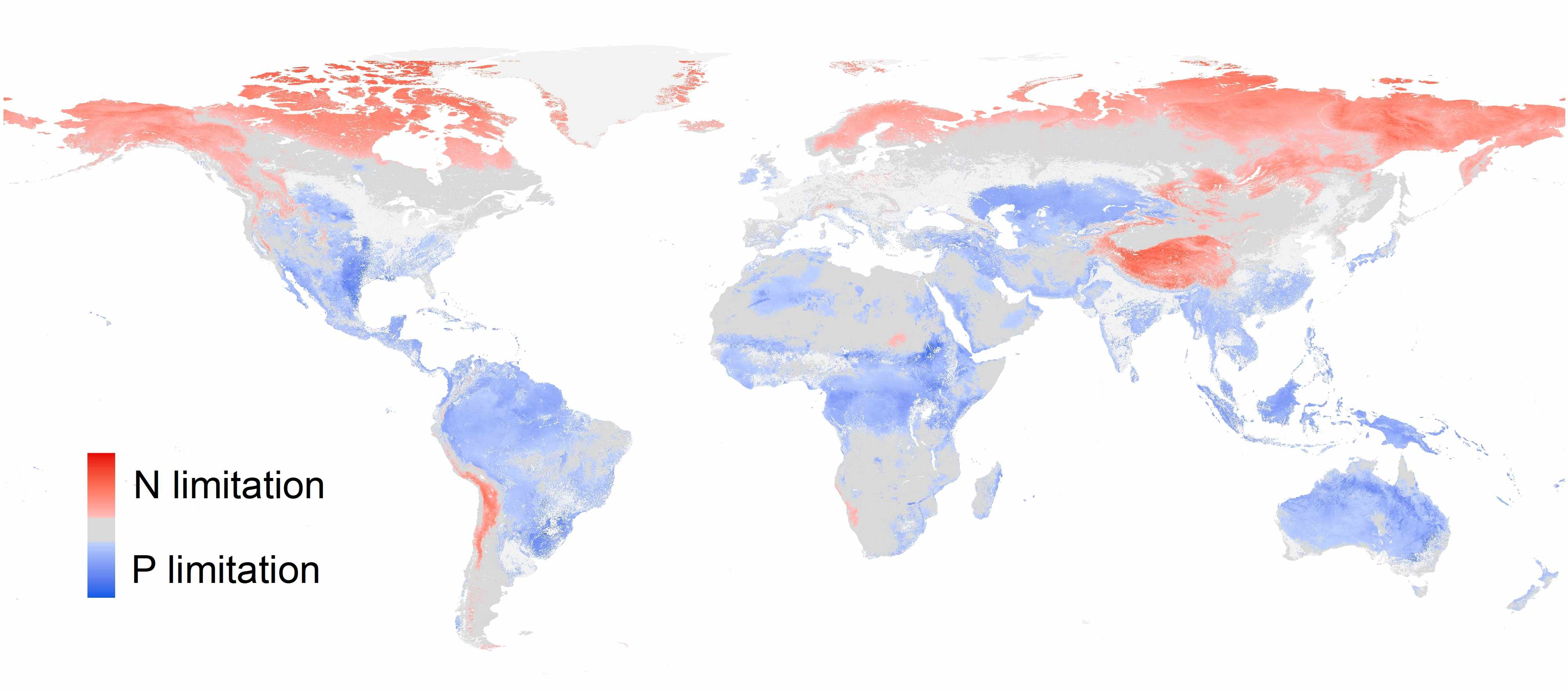 Global patterns of terrestrial nitrogen and phosphorus limitation