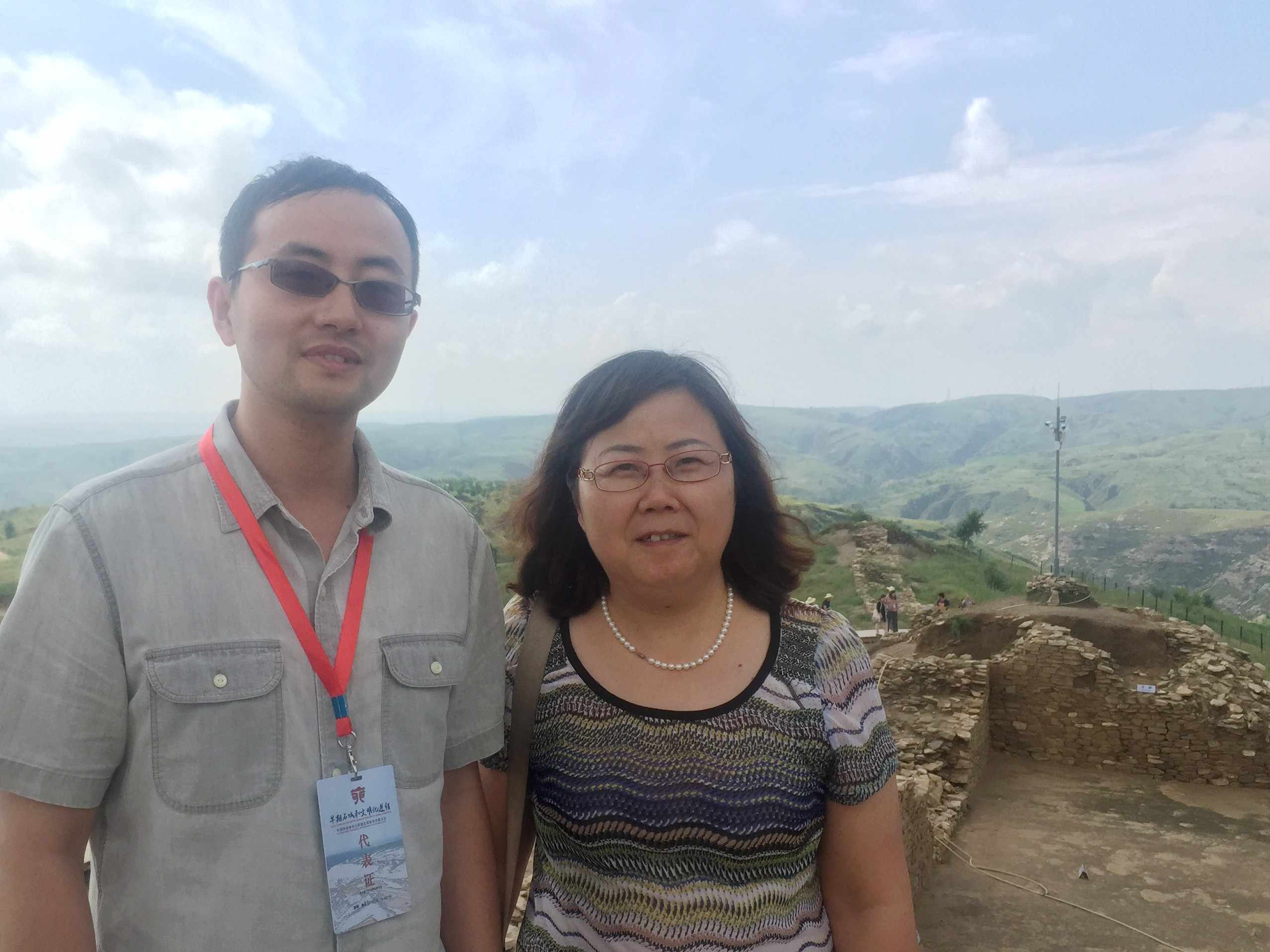 Prof. Songmei Hu and me, at Shimao city