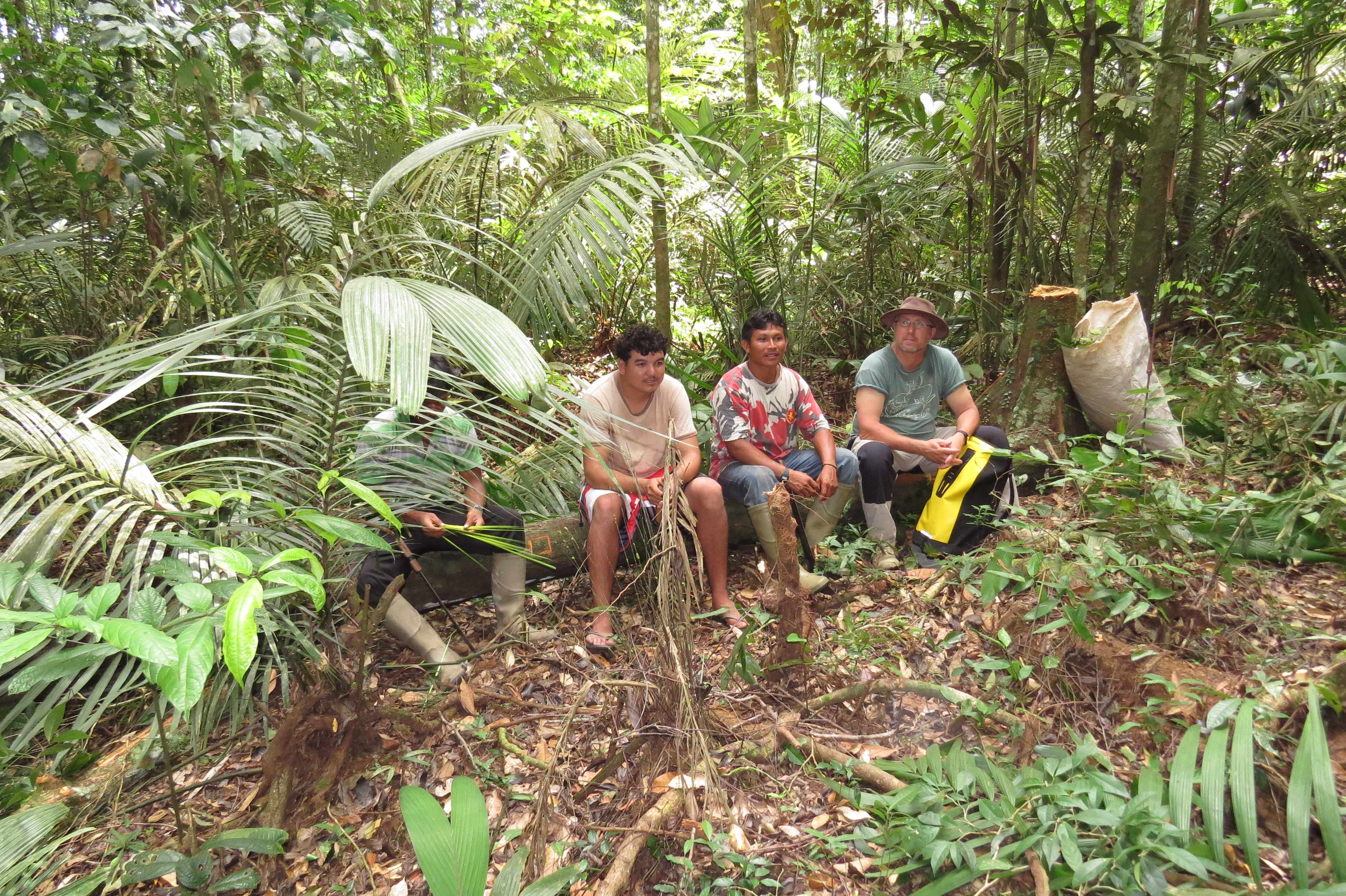 Fieldwork in the Wai wai community area, southern Guyana 2013.