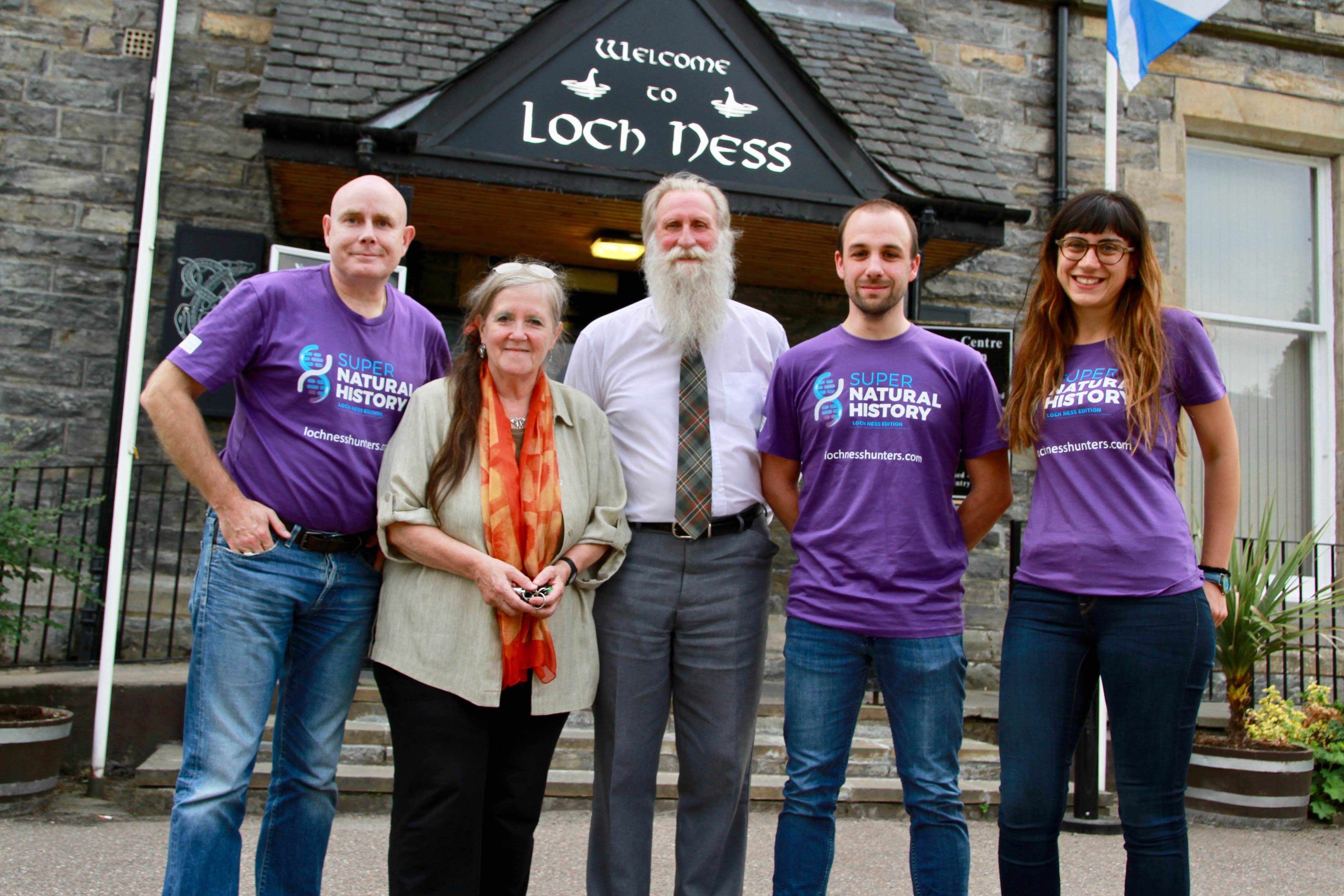 Adrian Shine of the Loch Ness Centre and the Supernatural History Team